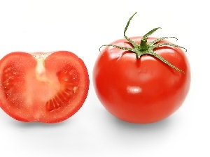 tomato, section, Red