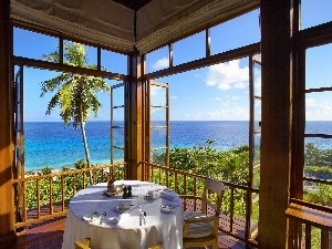 Seychelles, Ocean, The hotel, terrace