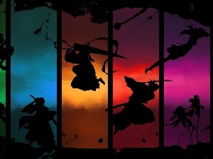 shadows, Characters, bleach, colors