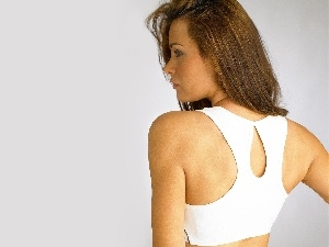 White, shoulders, drag, Alina Vacariu, top, back
