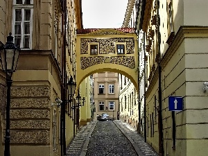 Sights, Houses, Prague, alley