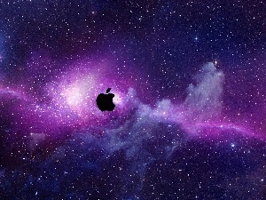 starry, Sky, Apple