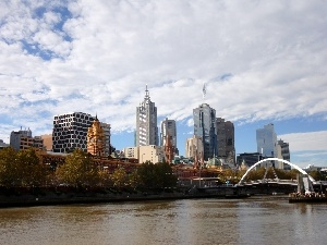 Melbourne, skyscrapers, Town
