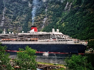 slope, Mountains, Queen Mary 2