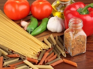 spice, pepper, Pasta, tomatoes