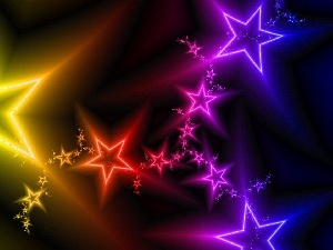 color, Stars, abstraction