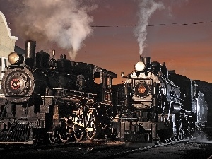 steam, locomotives