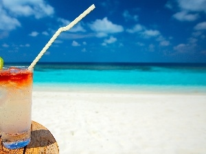 Straw, Drink, sea, table
