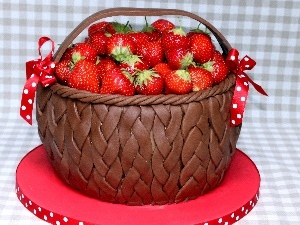 stand, strawberries, basket