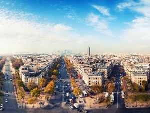 buildings, Streets, Paris