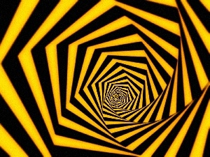 stripes, Yellow, abstraction, tunnel, black