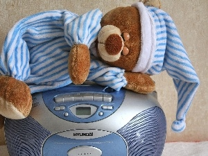 teddy bear, radio, Plush