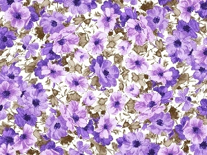Flowers, texture, purple