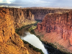 The United States, Utah, canyon, River