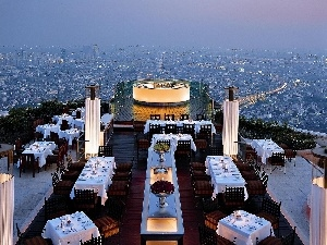 panorama, the roof, Bangkok, town, Hotel hall