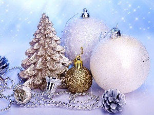 christmas tree, baubles