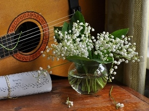 Guitar, Tunes, lilies