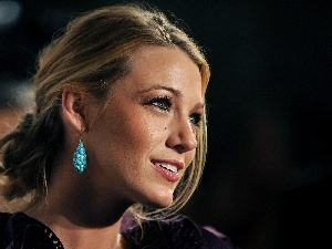 turquoise, ear-ring, Blake Lively