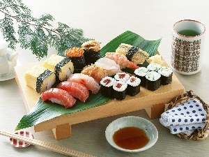 Types, different, excellent, Shushi