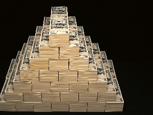 U.S. dollars, Pyramid, money