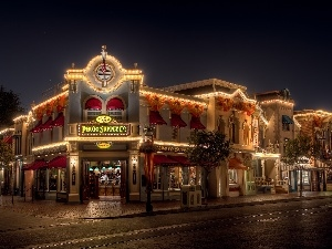 USA, California, City at Night, Disneyland