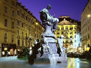 Sculpture, Vienna, fountain