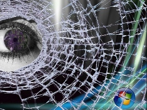 Vista, Glass, eye, cracked