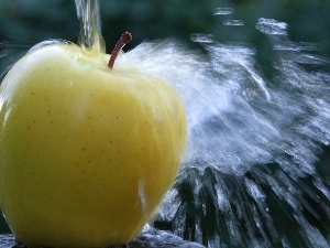 Apple, water, Yellow