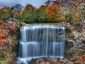 waterfall, autumn