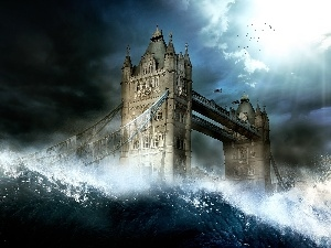 London, Waves, bridge