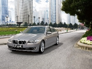 buildings, Way, BMW 5 Series, The F-10