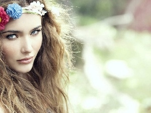 We, Flowers, Women, hair, make-up