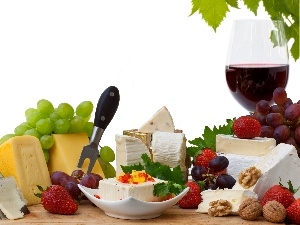 Wine, cheeses, different, Grapes, Species
