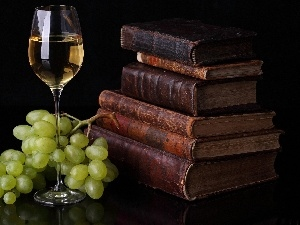 Wine, Grapes, old, Books