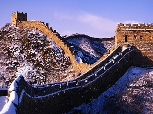Chinese, winter, wall