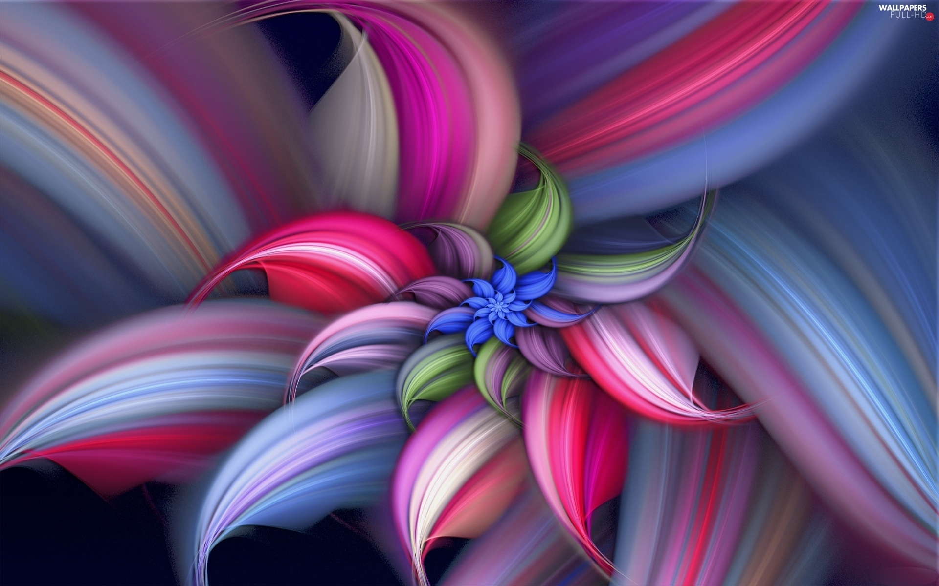 abstraction, graphics, Multicoloured, Colourfull Flowers