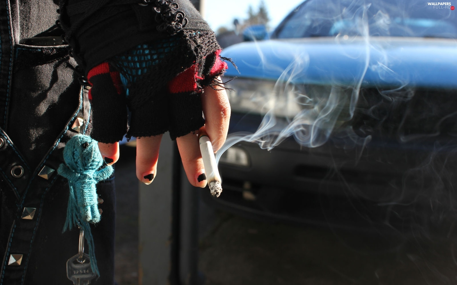 Cigarette, Automobile, hand