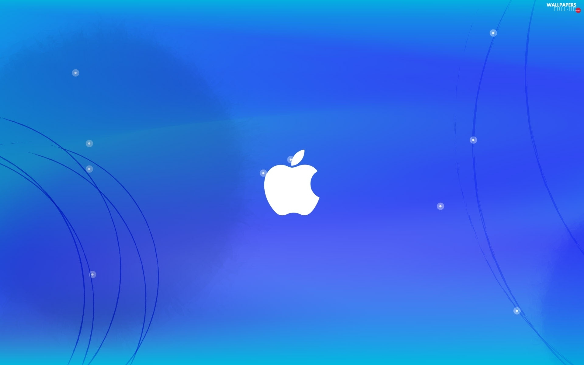 Blue, background, Apple