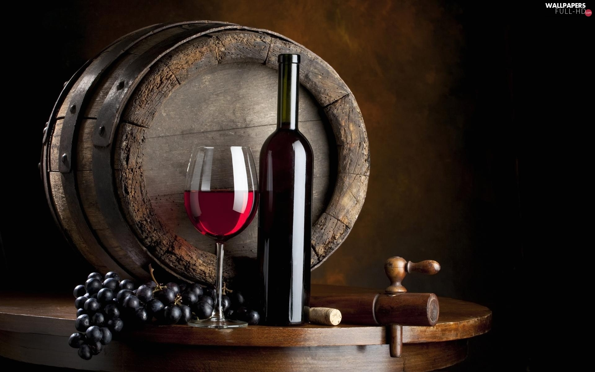 barrel, Bottle, glass, Red, grape, Wine