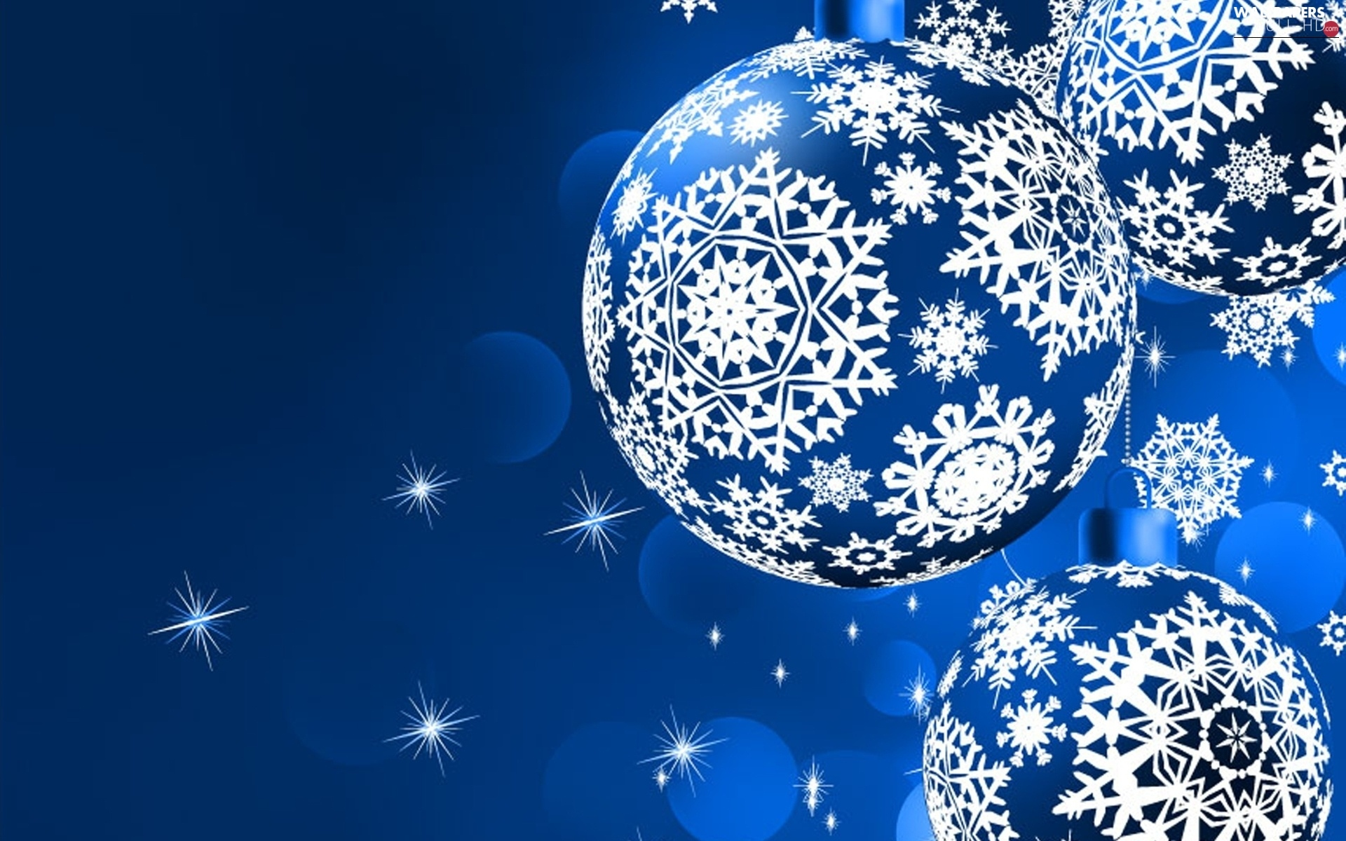 background, baubles, Blue