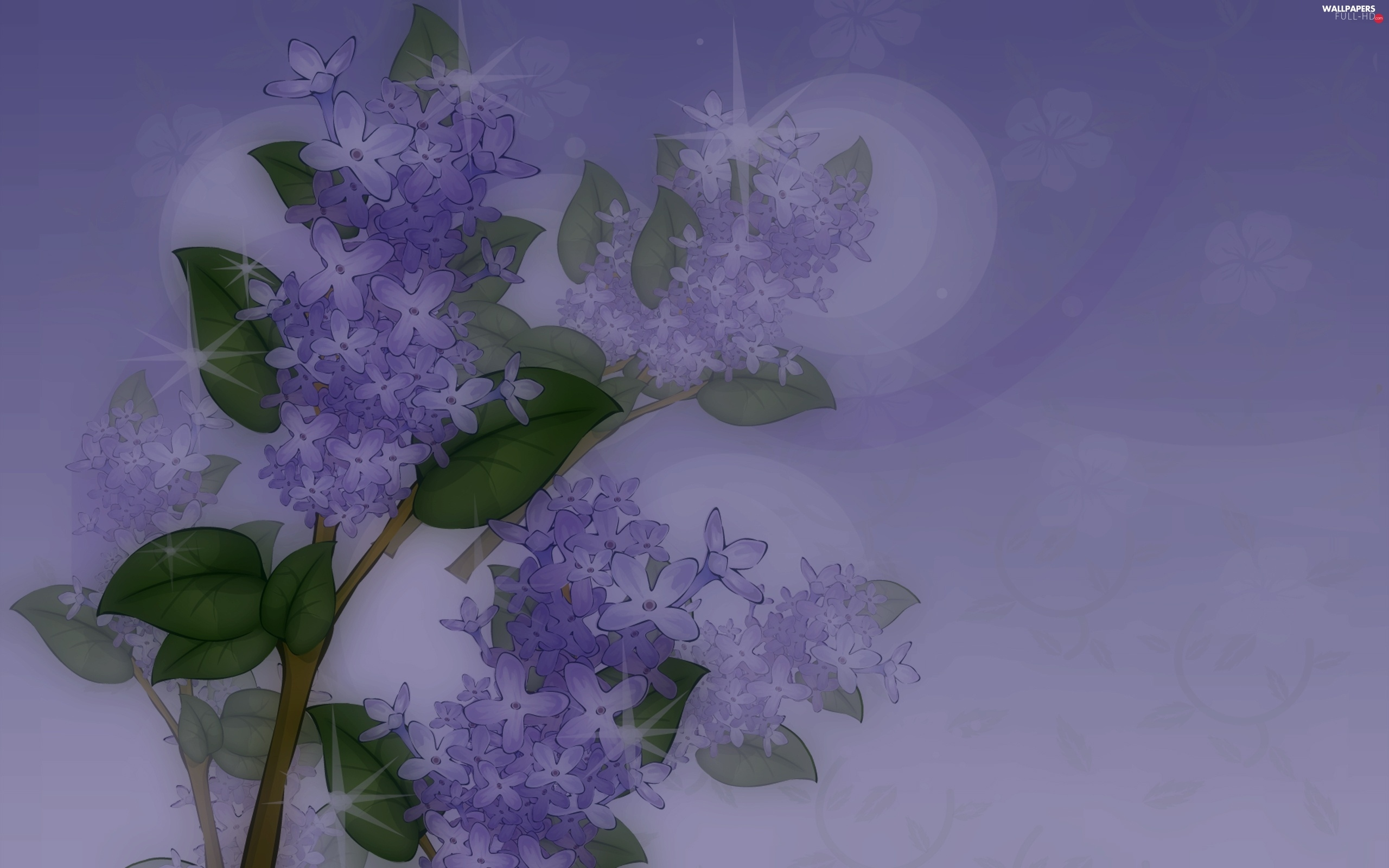 lilac, Blue, Twigs