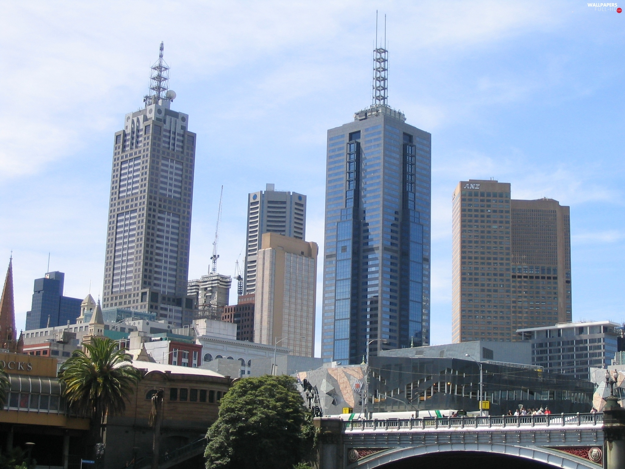 architecture, bridge, Melbourne