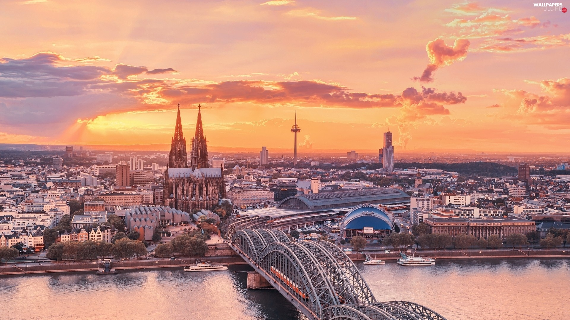 bridge, chair, Gothic, Germany, Hohenzollern, Cologne
