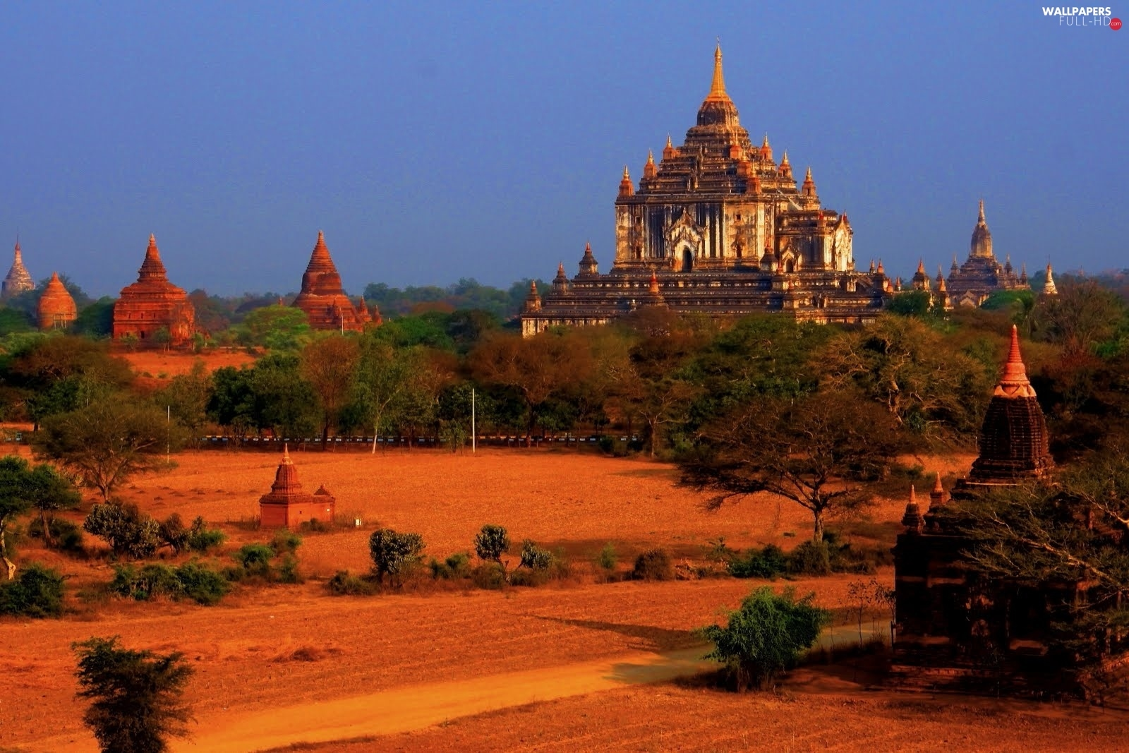 Burma, structures, trees, viewes