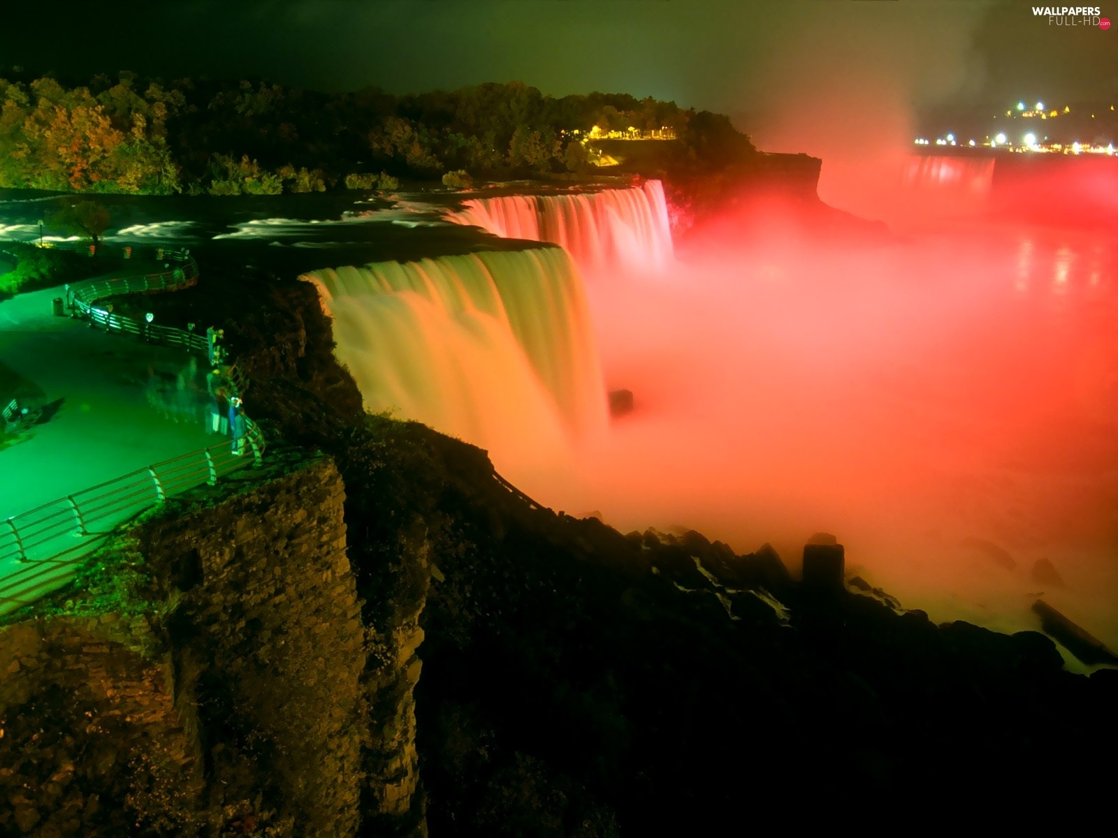Canada, Niagara Falls, highlighted, waterfall