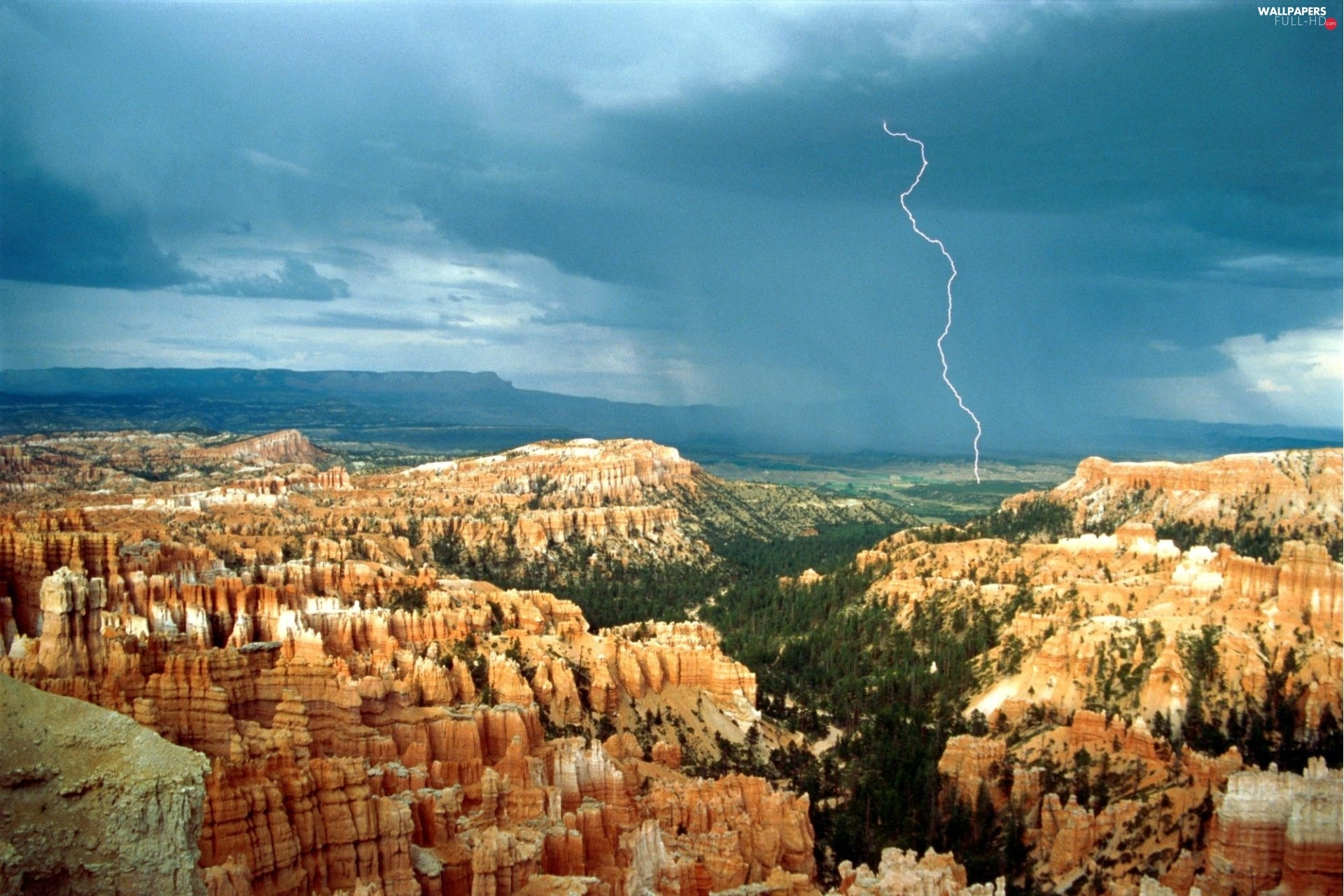 canyons, Mountains, Landscapes, Storms
