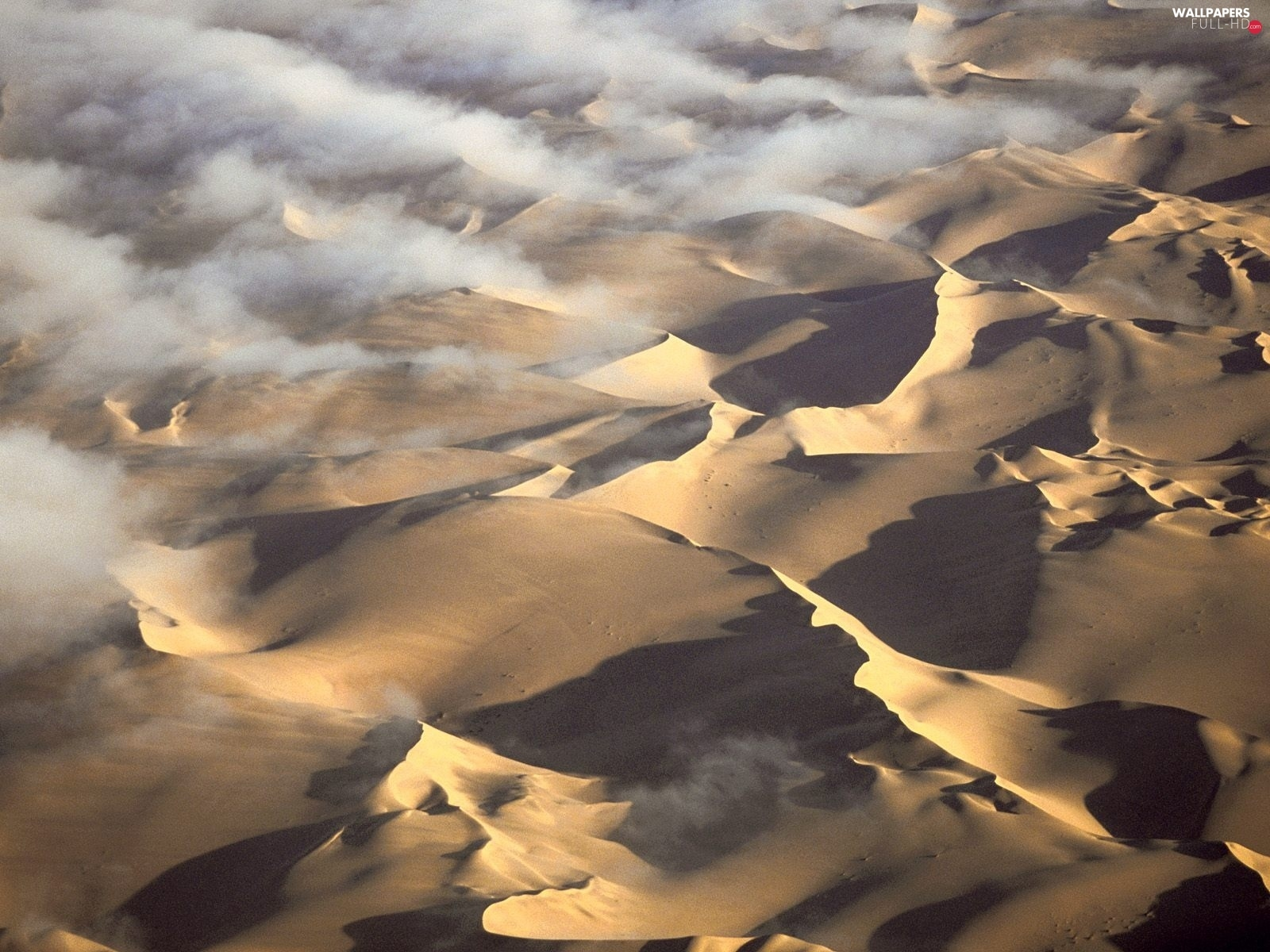 Desert, clouds, Namibia