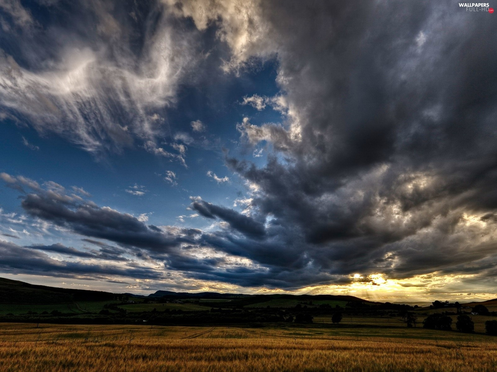 Sky, clouds, Field