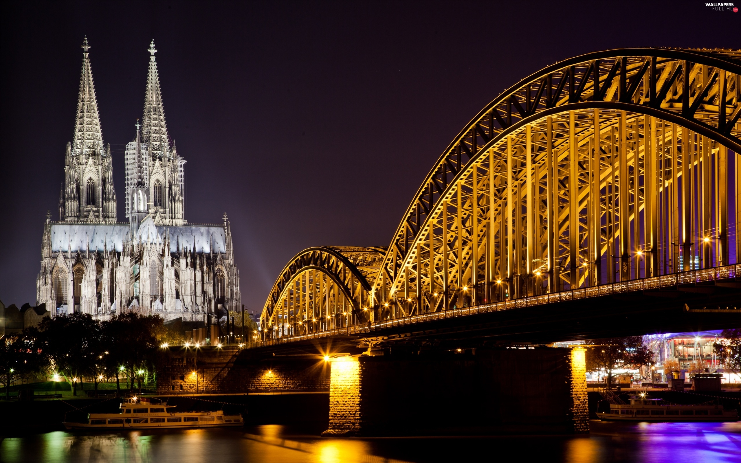 Cologne, River, bridge, Germany, chair
