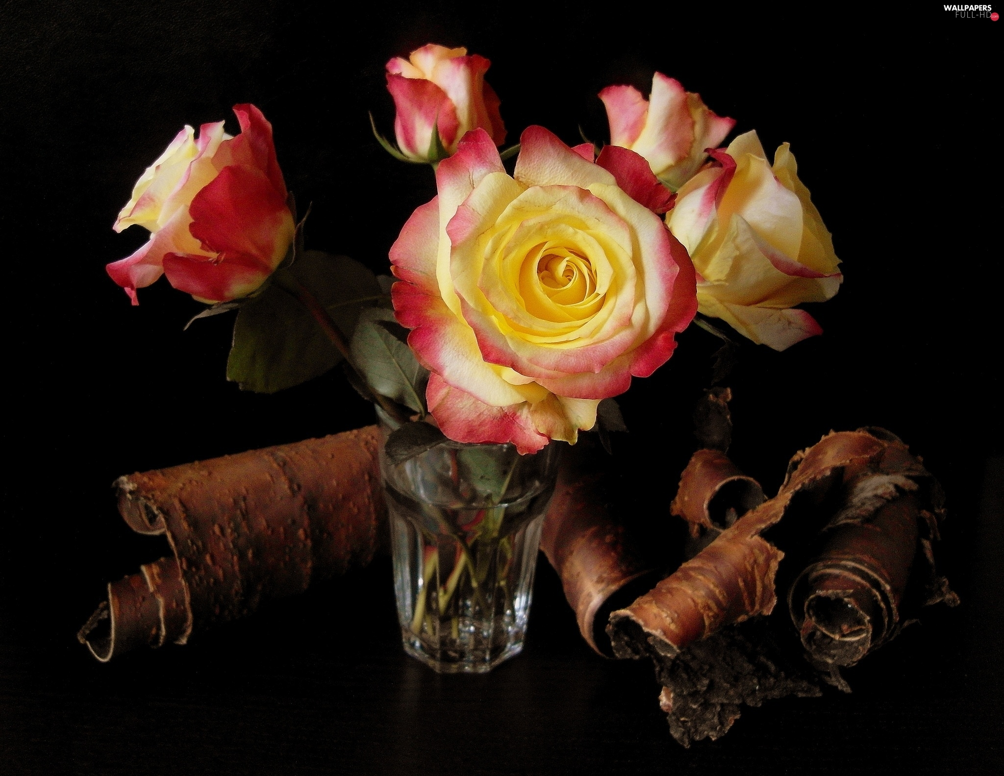 roses, cork, bouquet